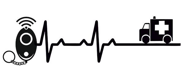 Raccourcissez au maximum le délai entre un incident et l'arrivée des secours appropriés grâce à une communication (birectionnelle ou non) avec le centre de télésurveillance, activée à l'aide de votre bracelet d'urgence médicale ou de votre bouton de panique.